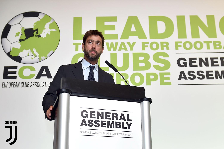 Juventus: Andrea Agnelli nuovo presidente Eca, succede a Rummenigge